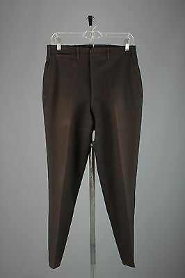 Vtg Men's 1910's Wool Drop Loop Button Fly Pants sz 28-30x28 Edwardian #3384