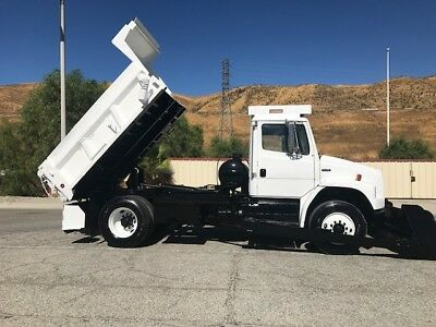 Freightliner Fl70 7 Yard Dump With Loader, Hurricane Cleanup Self Loader