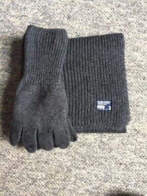 Mens Superdry Grey Gloves And Scarf Set