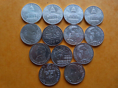 Lot De 13 Pieces De 100 Francs  En Argent