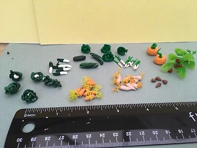 Dolls house mixed lot of handmade vegetables