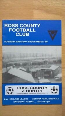 Ross County v Huntly 7th May 1994 - Very last Highland League game for Ross Co