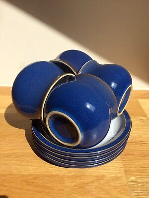 denby imperial blue Cups And Saucer Set