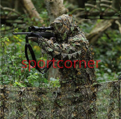 New 3D  jungle CAMO more LEAF NET GHILLIE SUIT JACKET AND TROUSERS for hunting