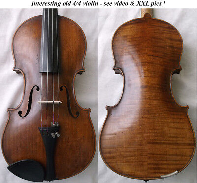 OLD GERMAN VIOLIN around 1930 -see video - ANTIQUE RARE MASTER バイオリン скрипка 020