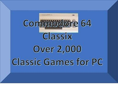 Commodore 64 games for windows on Disc for windows emulator PC's