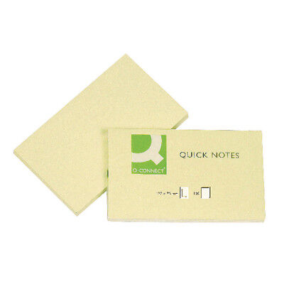 Q-Connect Repositionable 76x127mm Yellow Quick Notes (Pack of 12) KF10503