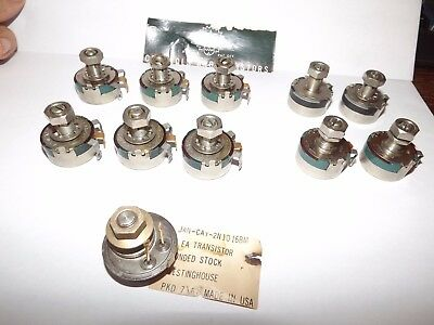 Lot of 11 Clarostat Potentiometers plus 1 Transistor - New Old Stock NOS
