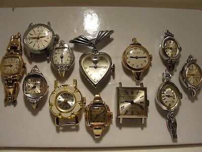 Ladies Watch Lot, That Consist Of 12 Mechanical Watches   ( Sold As Is )