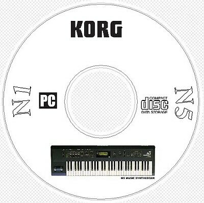 Korg N1 N5 Sound Patches Library Manual MIDI Software & Editors CD ..  N 1 5