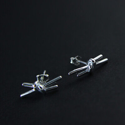 925 Sterling Silver Knot Stud Earring UK New 1.55g