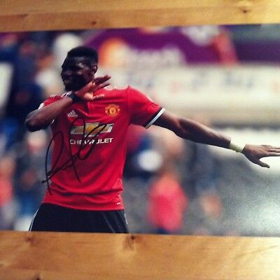MANCHESTER UNITED SIGNED Paul Pogba 12x8 photo AUTOGRATHED POGBA