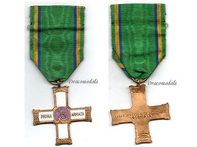 ITaly WW1 Medal War Cross 1 Army 1914 Commemorative Italian Military Decoration