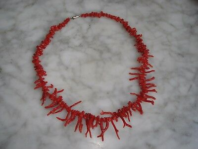 Collier Ancien en CORAIL Rouge