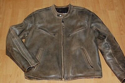 SCHOTT NYC PERFECTO Cafe Racer vintage naked cowhide,brown size L