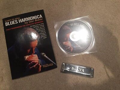 Learn To Play Blues Harmonica book with CD and Harmonica