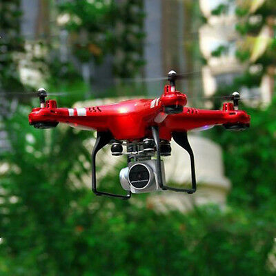 RC Quadcopter Drone with WiFi FPV Live HD Wide Angle Lens Camera Helicopter Red