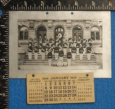 VINTAGE 1928 Manitowoc WI Aluminum Specialty Band Calendar company old antique