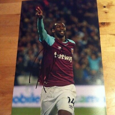 PEDRO OBIANG ( WEST HAM ) signed autographed 12x8 photo signed 2017-2018
