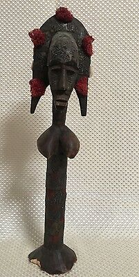 "AFRICAN Carved Sculpture Art ~15"" Tall! ~L@@K~FREE SHIPPING~"