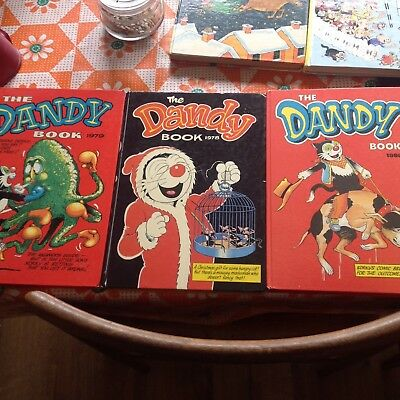 The Dandy Book 1979 1980 1978 Annuals Comic Vintage