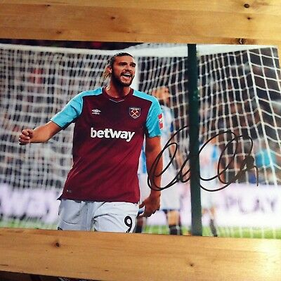 ANDY CARROLL ( WEST HAM ) signed autographed 12x8 photo signed