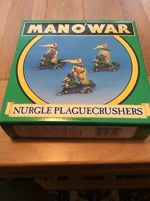 Games Workshop Man o'War Nurgle PlagueCrushers x 3 in original Box Rare OOP