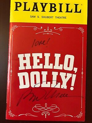 "Bette Midler ""HELLO, DOLLY"" autographed playbill+postcard from BCEFA flea market"