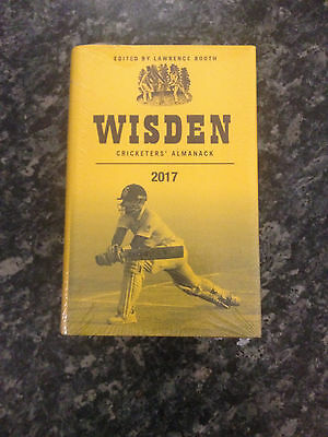 Wisden Cricketers' Almanack 2017 by Lawrence Booth -   NEW SEALED HARDBACK