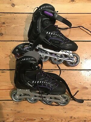 SFR RX23 Inline Skates Black With Purple UK Size 6 / EU 39.5