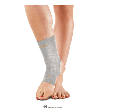 New Tommie Copper Women's Small Compression Ankle Sleeve in Silver