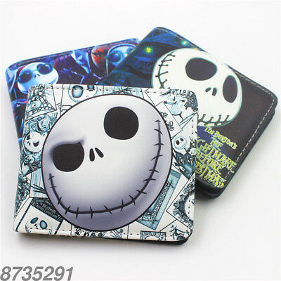 The Nightmare Before Christmas wallet men women Coin bag Bifold short Purse