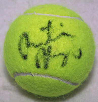 Martina Hingis Tennis autograph, In-Person signed Tennis Ball - Proof