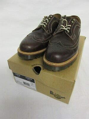 Dr Martens men's 'Hamish' brogues in juniper (brown) - UK size 9 - Boxed