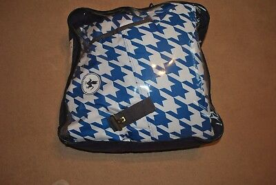 """horse turnout rug 6'0"""" derby house heavy weight full neck blue and white"""