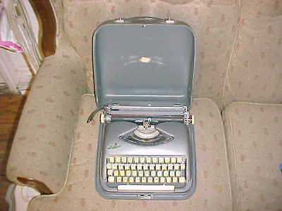 Vintage Cole Steel Typewriter w/ Carrying Case