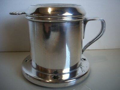 Antique Wiskemann Silver Plated Single Tea Caddy Strainer Excellent, Signed