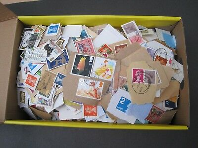 GB Box Decimal Kiloware Over 1.2kg incl box Off/On paper Unsorted 100s of stamps