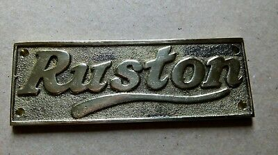 Ruston (Hornsby) Brass plate