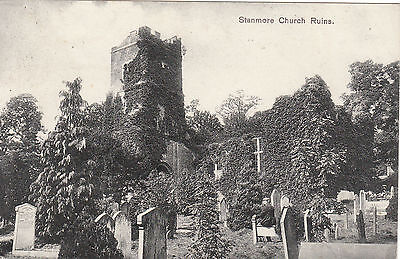 Church Ruins, STANMORE, Middlesex