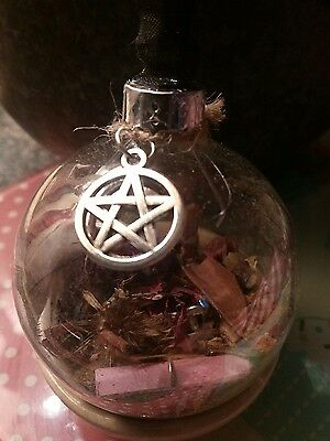 """Dark Fae Orb/6"""" Witches ball / Glass Orb"""