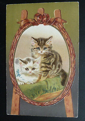 Cute Cat Postcard/ Cats in Frame- Posted 1916, Wildt & Kray