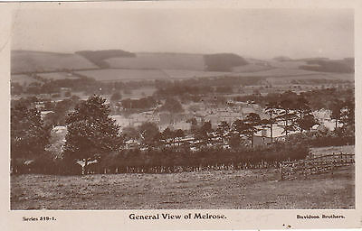 General View, MELROSE, Roxburghshire RP