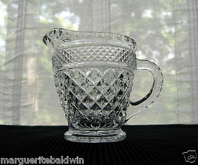 Anchor Hocking Glass Clear Wexford Creamer Pitcher