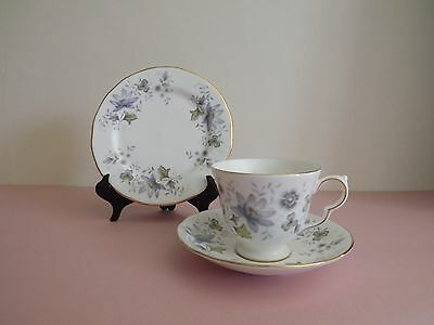 Vintage Colclough Rhapsody in Blue Cup Saucer & Side Plate Trio (71.47)