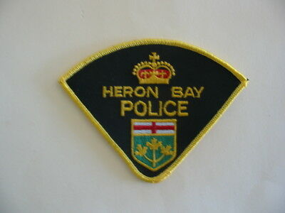 Original Rare Obsolete Heron Bay First Nations  Police, Patch, Ontario, Canada
