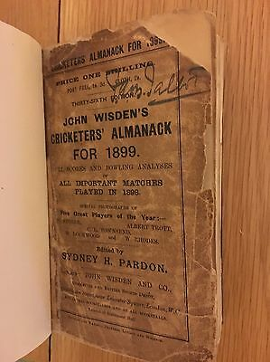 Very Rare 1899 Wisden Cricket Almanack