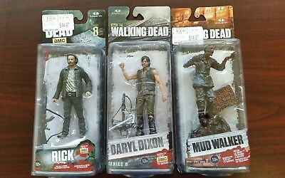 Lot of 3 McFarlane Toys The Walking Dead Action Figures, NEW