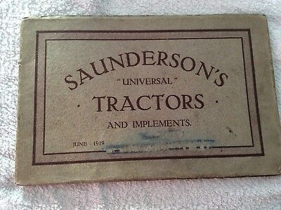 Saundersons Universal Tractors & Implements Hauling Ploughing Machinery