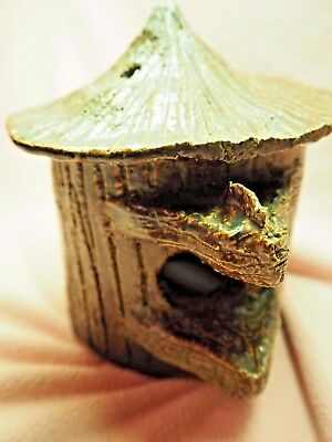 Antique American Sewer Tile Bird House - Whimsy Handmade Fall Unique Decor